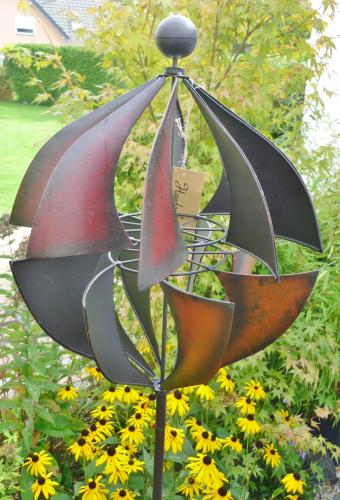 windspiel gartenstecker windrad metall kugel gartendekorationen shop. Black Bedroom Furniture Sets. Home Design Ideas