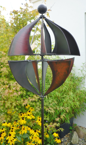 windspiel gartenstecker windrad metall kugel gartendekorationen shop. Black Bedroom Furniture Sets. Home Design Ideas