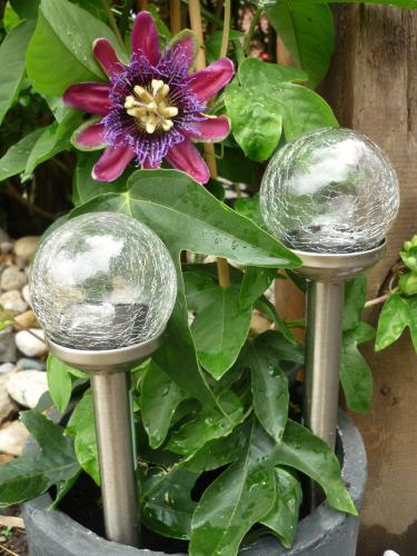 Solar LED Kugelleuchte 2er-Set Gartenkugel Kugel Garten Kugellampe