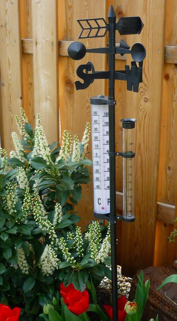Wetterstation Thermometer Regenmesser Garten