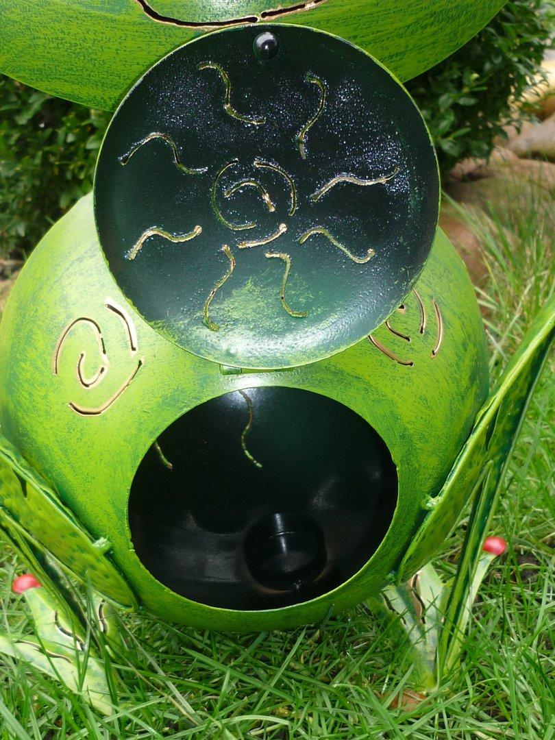 Garten figur frosch froschk nig metall deko windlicht for Frosch figur garten