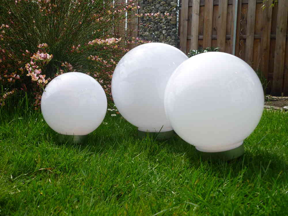 Solar LED Kugelleuchte 3er-Set 30,25,20 cm Gartenkugel Kugel Garten ...