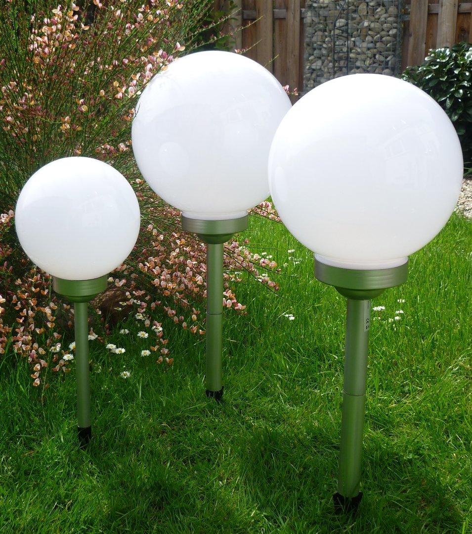 solar led kugelleuchte 3er set 30 25 20 cm gartenkugel kugel garten kugellampe. Black Bedroom Furniture Sets. Home Design Ideas
