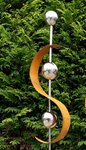 Edelrost Design Gartenstecker Modern Art 1