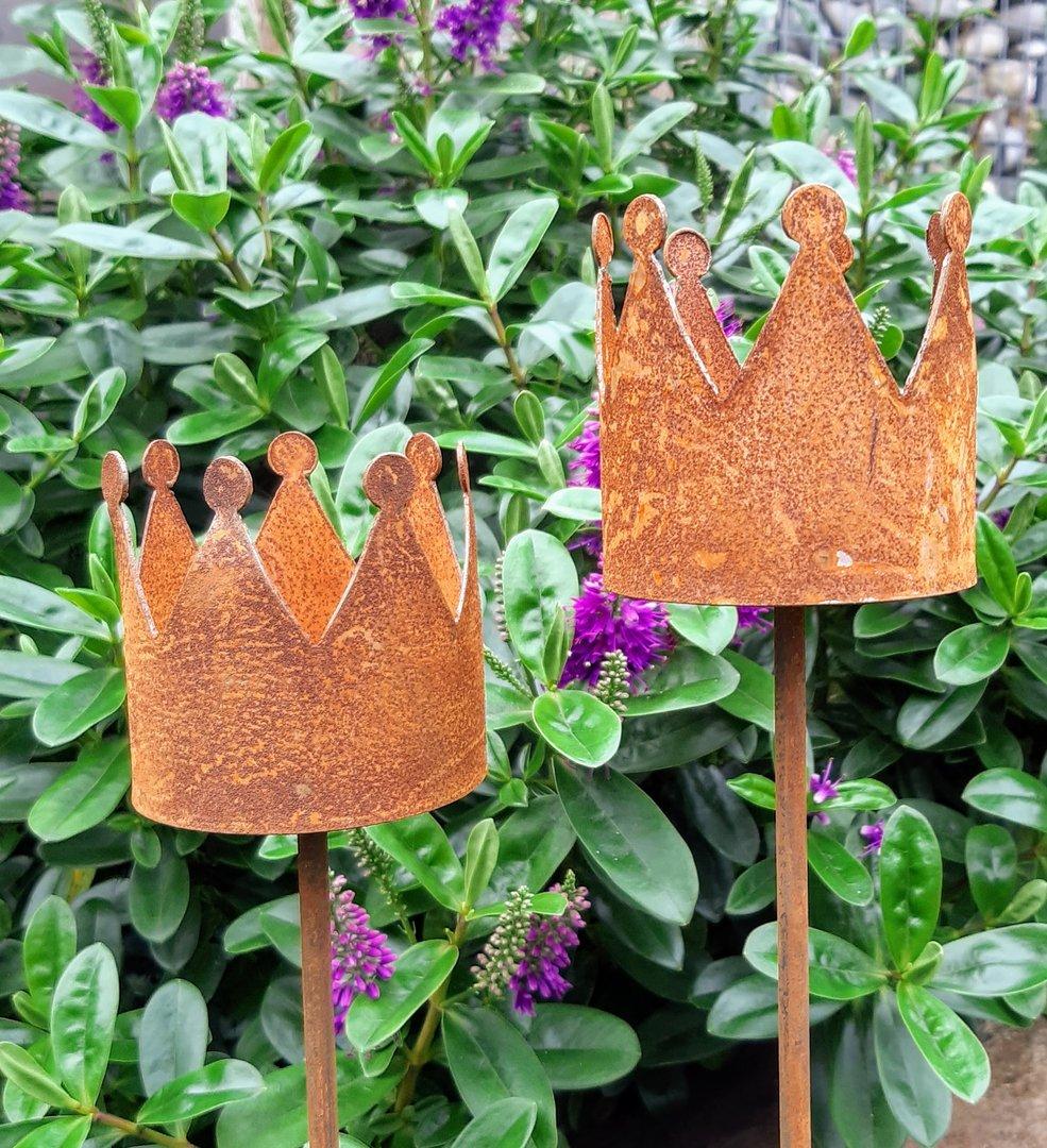 Deko Krone 2er Set Gartenstecker Teelichthalter Gartendekorationen Shop